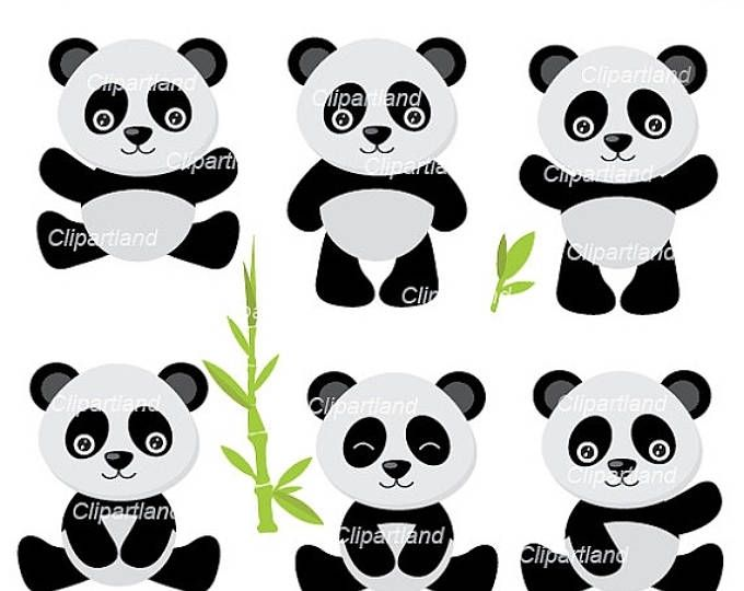 ON SALE INSTANT Download. Panda clipart. Cpan_2. Personal and commercial use.