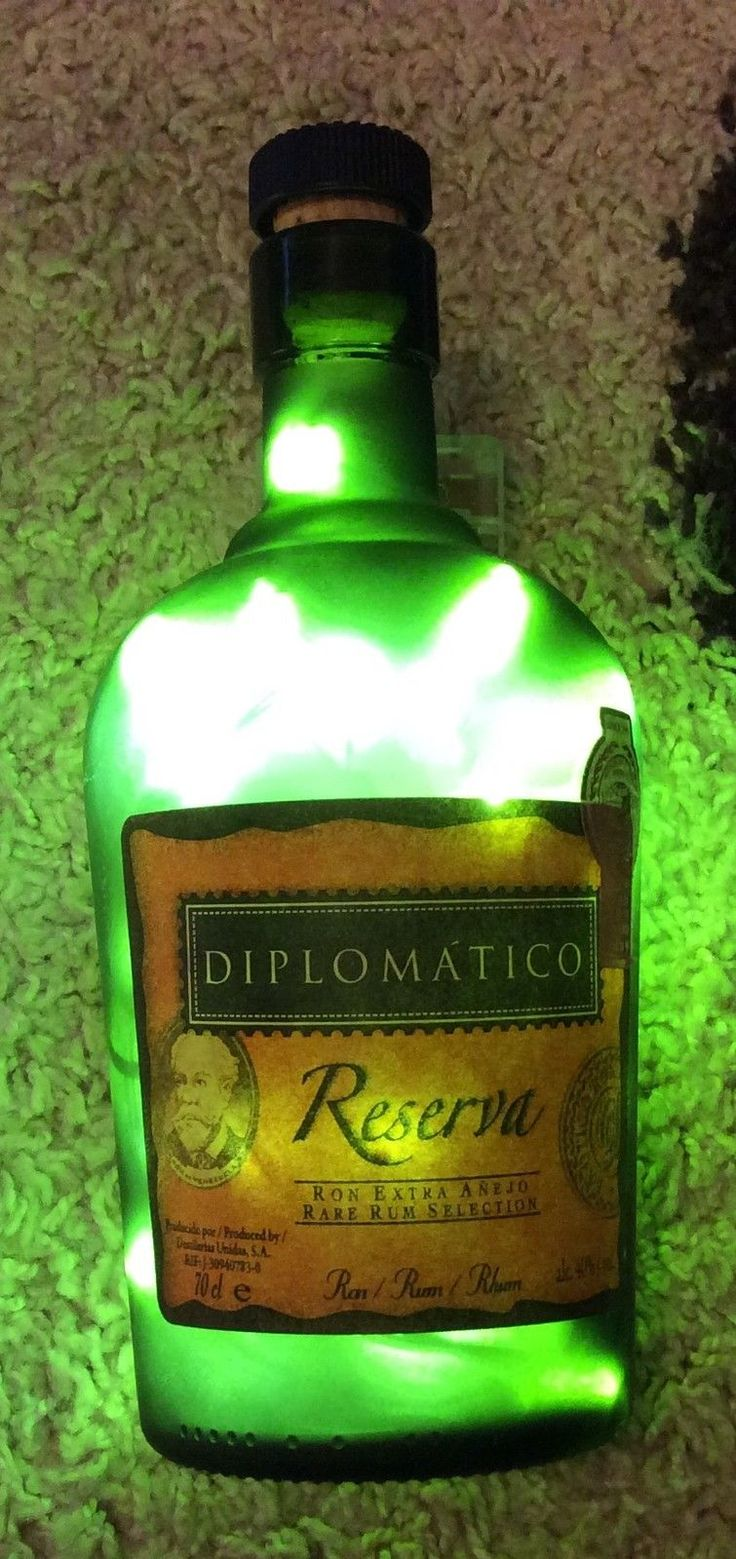 Lamp Bottle Upcycled Diplomatico RUM 70CL Battery INC £8 50 Free P P | eBay