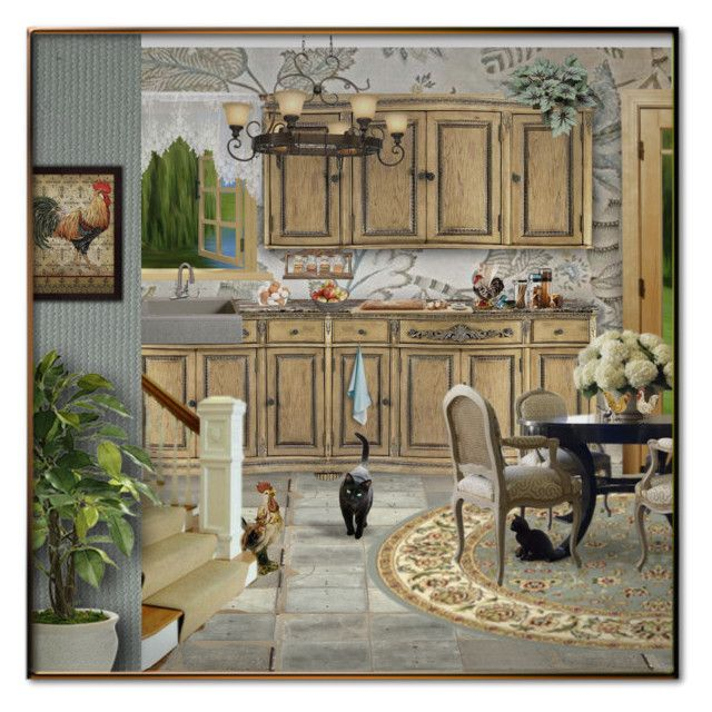 Country Kitchen Roosters By Signaturenails Dstanley Liked On Polyvore Featuring Interior