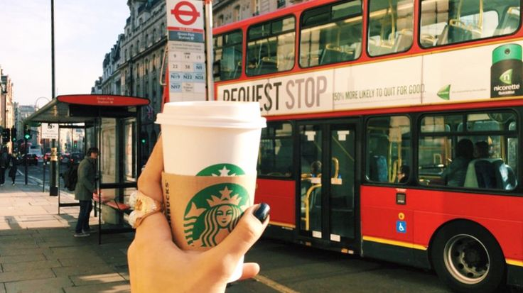 Fueling up some Starbucks coffee for this magical city. Love for London. Instagram: @yasminearabella - Yasmine Arabella