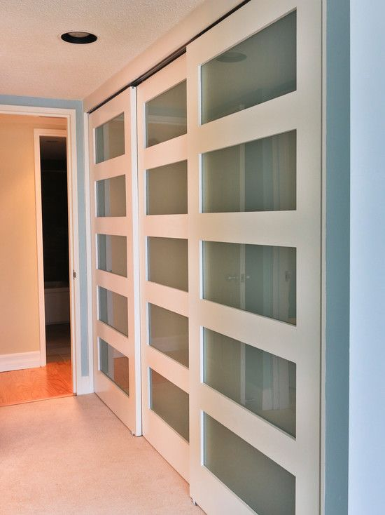 Inspiring Rolling Closet Doors Design Ideas: Contemporary Rolling Closet Door With Glass Elements ~ dropddesign.com Furniture Inspiration