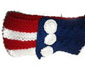 Patriotic Headband, 4th of july, Red White Blue, American Flag Bandana