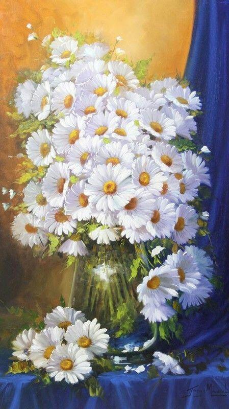 Resultado de imagem para pintura em tela botão de rosas brancas