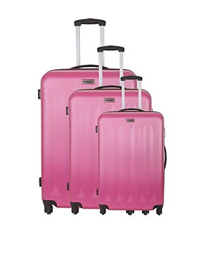 TRAVEL ONE 3er Set Hartschalen Trolley Cardiff (pink)