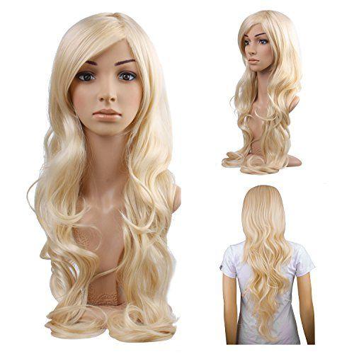 MelodySusie Cosplay Blonde Curly Wig - Gorgeous Women Lon...