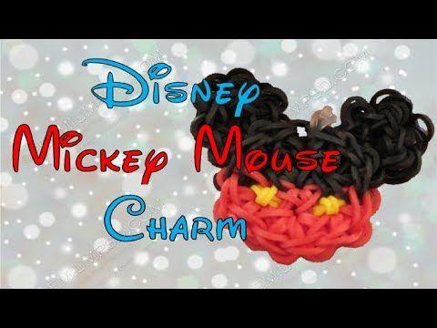 Mickey Mouse Rainbow Loom Charm Tutorial - ORIGINAL DESIGN