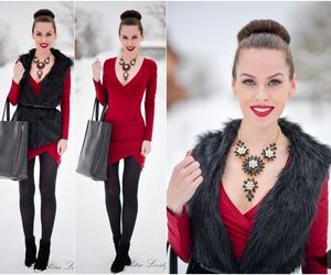 PetraLovelyHair: OOTD - wine red bodycon dress