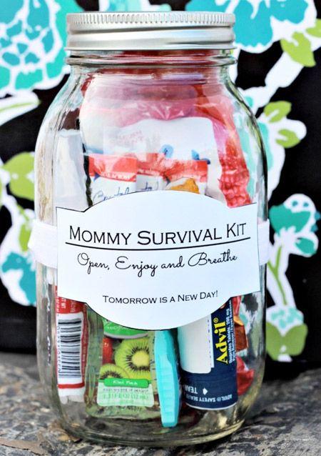 Auch Mutti braucht ein Überlebenskit - süße Idee zum Muttertag.