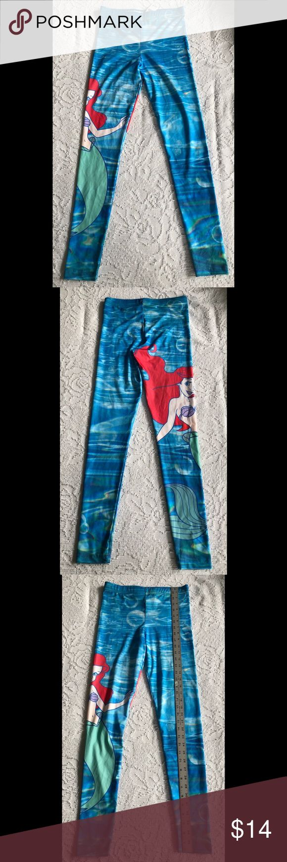NWT Wet Seal Ariel The Little Mermaid Leggings S Adorable Disney Ariel The Little Mermaid leggings from Wet Seal. Size Small. New with tags, never washed or worn, from a smoke-free home. Wet Seal Pants Leggings