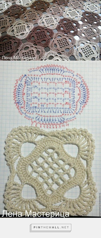 Openwork Crochet Motif - Free Crochet Diagram - (livemaster)