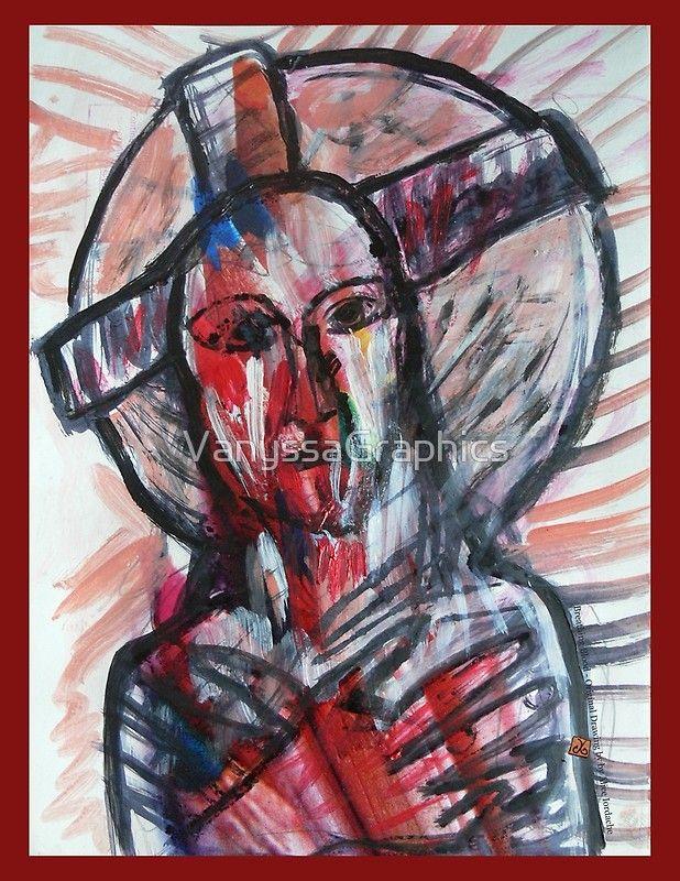Jesus Christ Breathing Blood (Original Handwork by Alice Iordache) by VanyssaGraphics