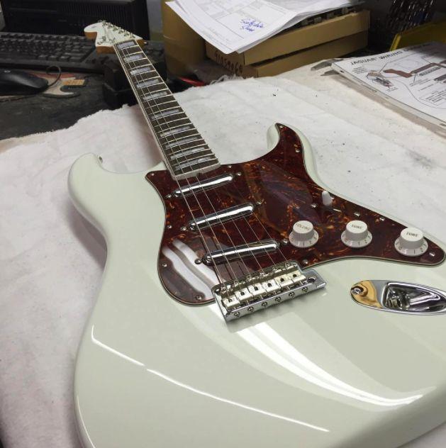 #Straturday triple-threat from master builder Greg Fessler at the Fender Custom Shop.