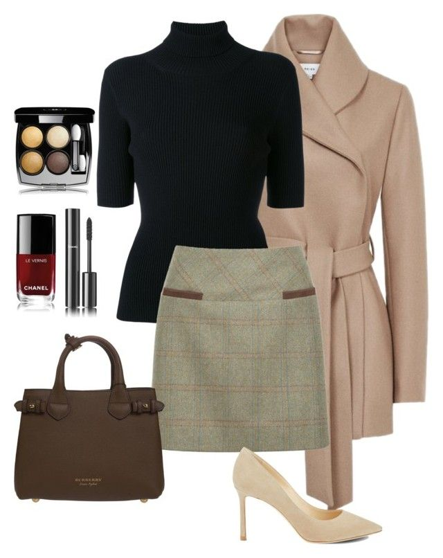 """""""Untitled#174"""" by bidlekerika on Polyvore featuring Valentino, DUBARRY, Jimmy Choo, Burberry and Chanel"""