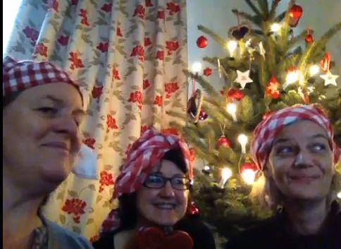Die Herbergsmütter singen Weihnachtslieder
