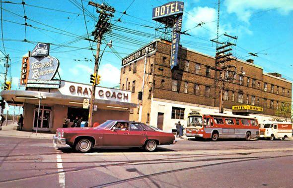Roncesvalles & Queen. Toronto 1970s.