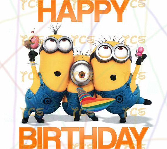 Tactueux image throughout printable minion birthday card