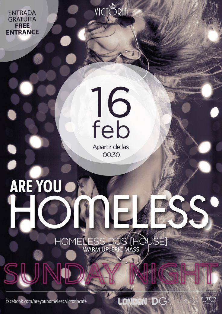 poster Are you homeless? - victoria cafe - donostia san sebastian.