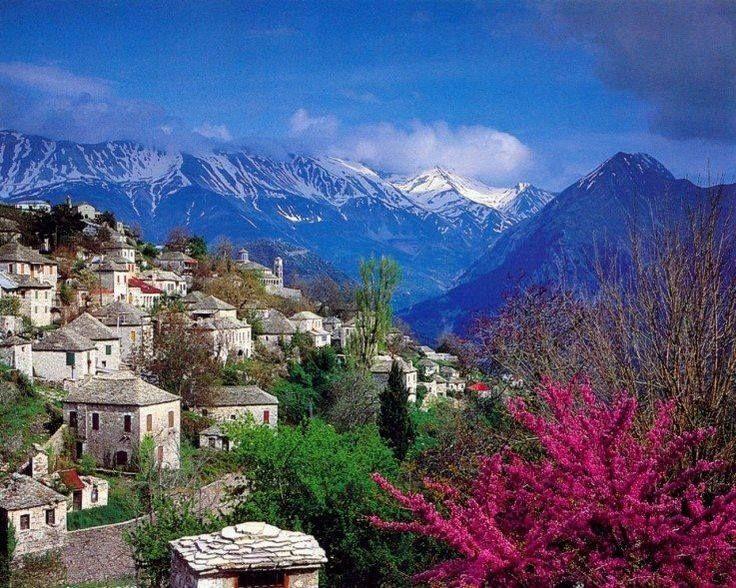 Kalarrytes village in Ioannina, Epirus, Greece