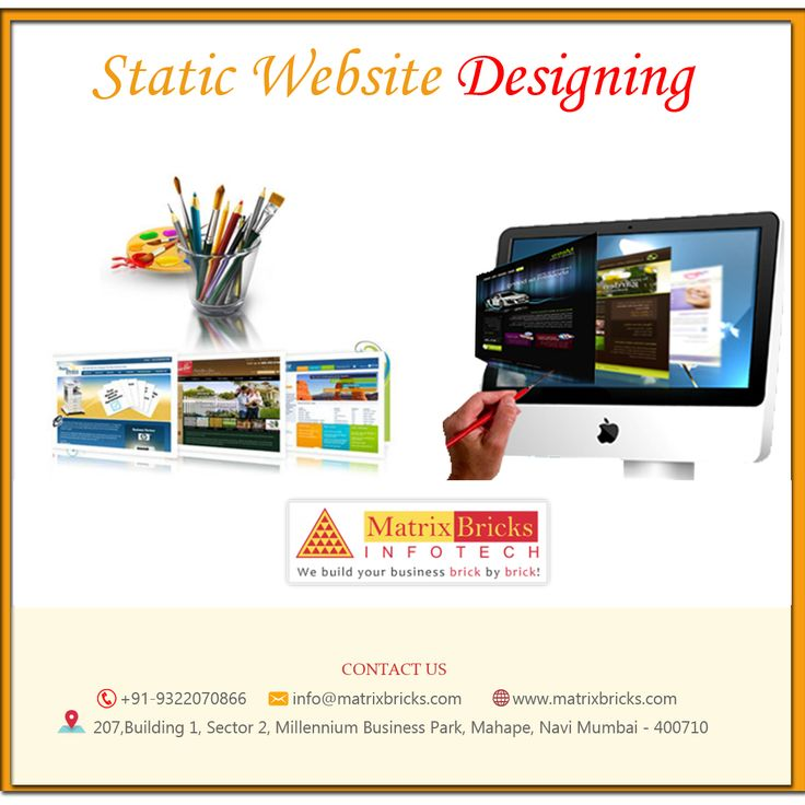 Get Your Responsive Mobile Friendly #Website from Matrix Bricks Infotech. #StaticWebsites allows #Businesses to explain their #Company's Goals and Objectives. Visit for more Detail : https://goo.gl/PxJRDG #Webdesign #DigitalMarketing #SMO