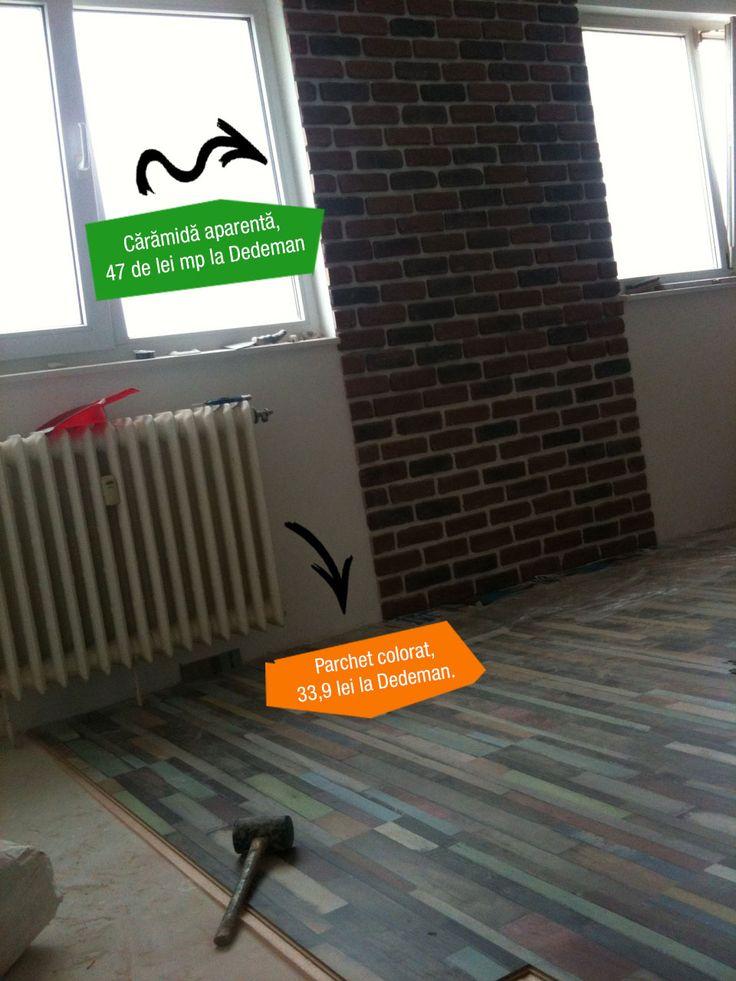Cărămidă aparentă și parchet colorat - http://tvdece.ro/caramida-aparenta-si-parchet-colorat/