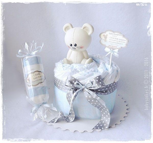 Mini gâteau de couches candy Josephine - Offrez le souvenir de naissance avec le premier jouet de bébé