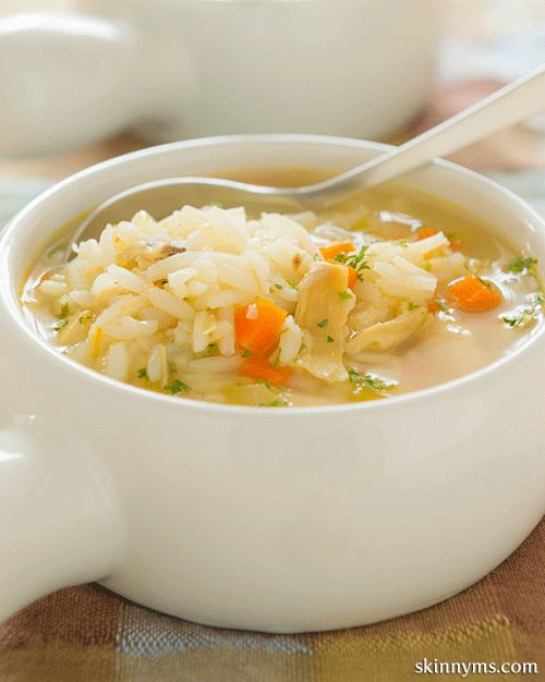 Slow Cooker Cream of Chicken and Rice Soup~180 calories per serving
