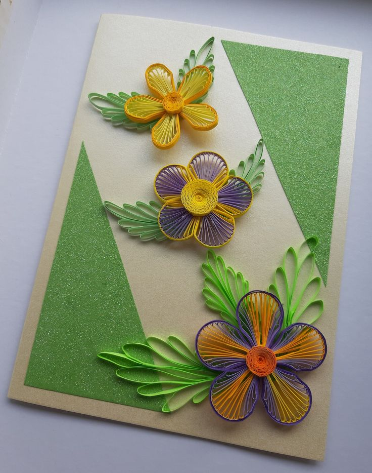 greeting card quill card quilling card  etsy  quilling