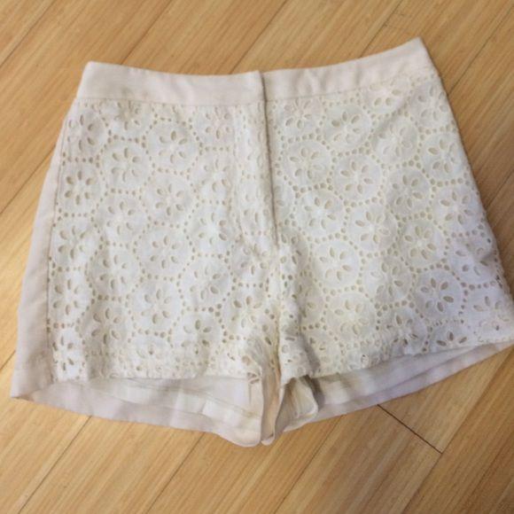 White Soft Shorts