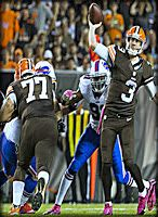 The Cleveland Browns took a punch towards gut early Thursday night when they lost starting quarterback Brian Hoyer to the knee sprain and fell behind by 10 points up against the Buffalo Bills. Most Browns teams through the years would have folded...