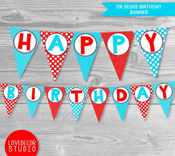 1000+ Ideas About Happy Birthday Banner Printable On
