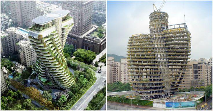 Eco-torre em Dupla Hélice toma forma em Taiwan