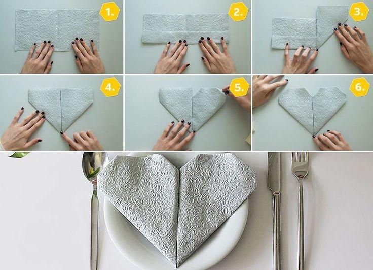 die besten 25 servietten falten herz ideen auf pinterest servietten falten muttertag basteln. Black Bedroom Furniture Sets. Home Design Ideas