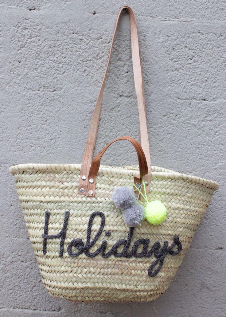 L'atelier Des Petites Bauloises: Panier de plage Holidays
