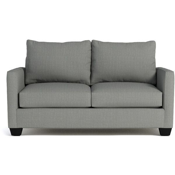 Apt2B Tuxedo Dove Grey Apartment Size Sofa ($1,388) ❤ Liked On Polyvore  Featuring Home