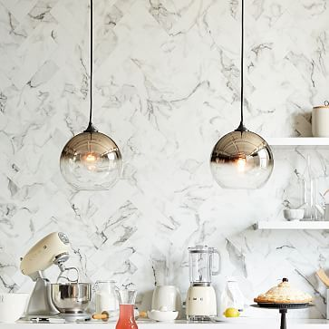 Ombre Mirrored Pendant - must be reflecting a stained ceiling because these pendants are not as they appear - gold.