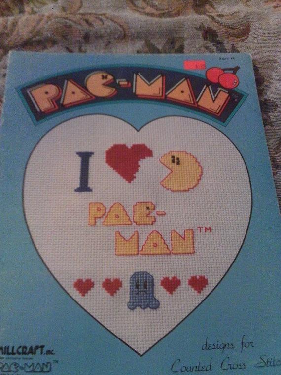 Cross Stitch Leaflet PacMan Millcraft book 4 by califcrafts, $5.00