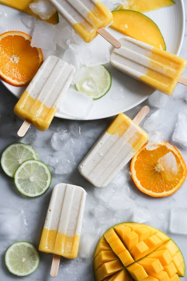 DIY: Vanilliges Mango-Eis am Stiel (vegan)