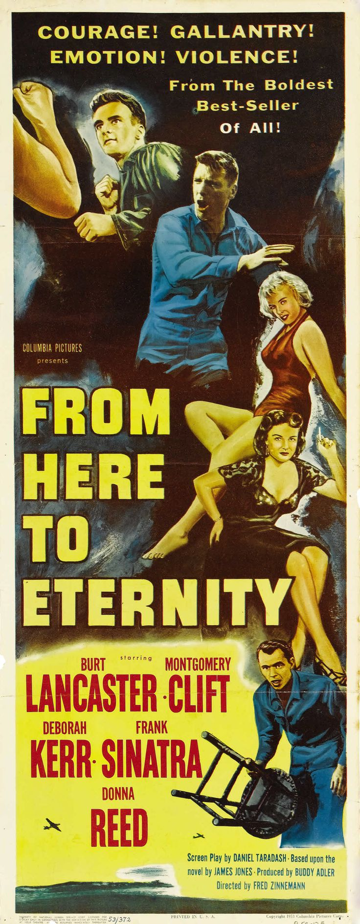 FROM HERE TO ETERNITY (De aquí a la eternidad) - 1953. Director: Fred Zinnemann. Productor: Buddy Adler.