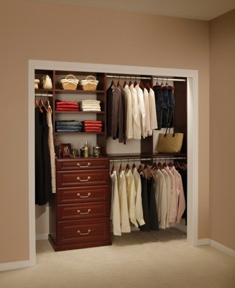 Fabulous closet ideas for small bedrooms wooden style Short wardrobe with drawers