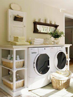 Mysigt även i tvättstugan!