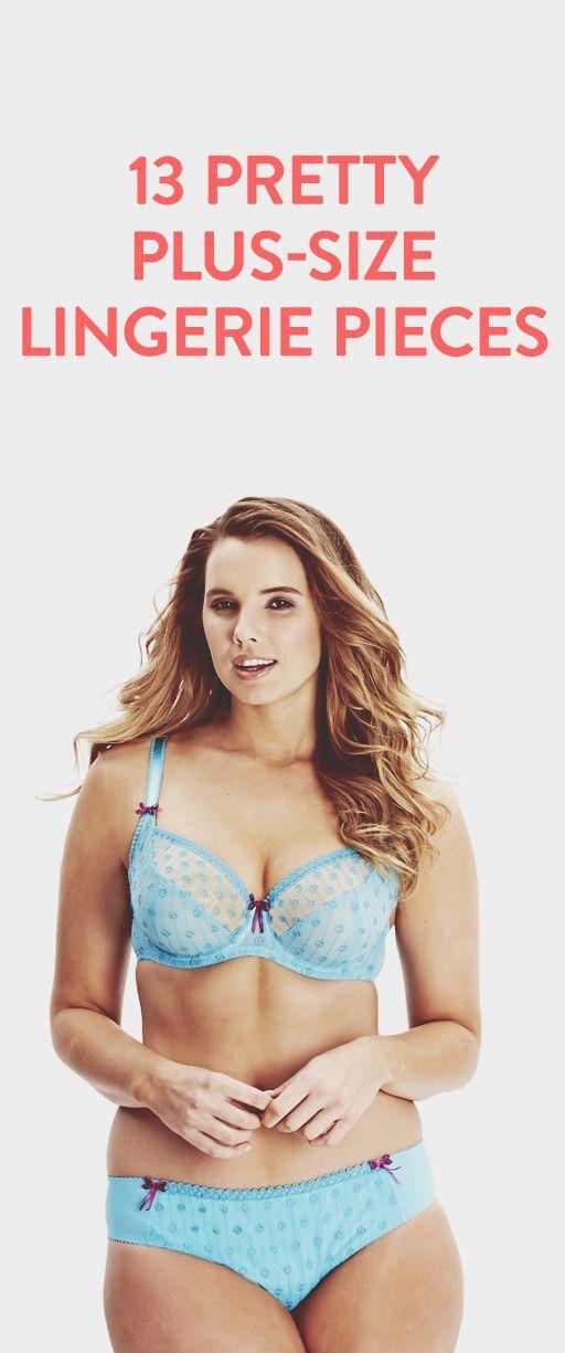 13 pretty plus-size lingerie pieces