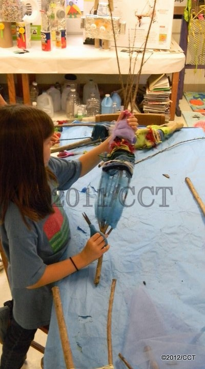 Weaving on the crepe myrtle branches after pruning.: Class Ideas, Myrtle Branches, Art Class, Craft Ideas, Art Projects, Design, Camp Nana