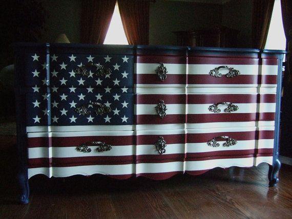 The Waving American Flag Dresser by Artisan8 on Etsy