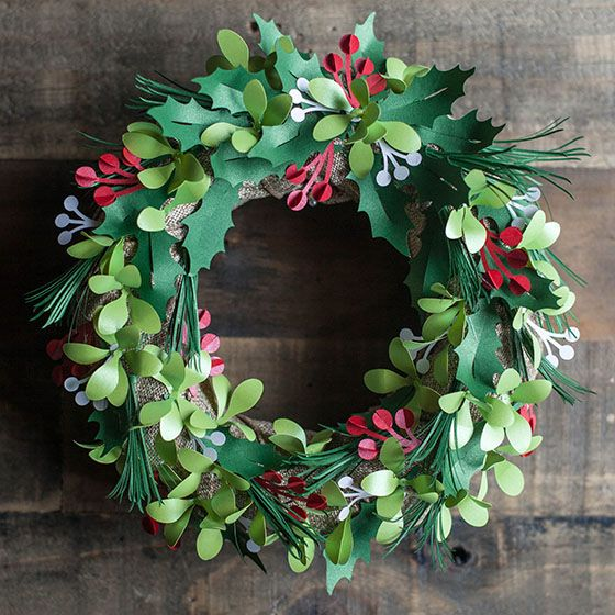 Holiday Holly Berry Wreath Made With 3D Floral Home Decor