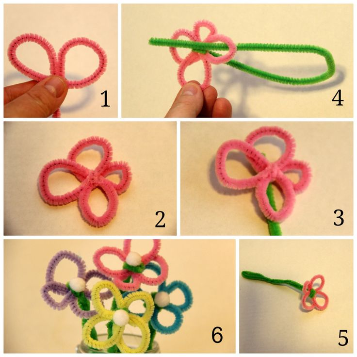 pipe cleaner crafts flowers | Easter Crafts: Pipe Cleaner Flowers and Bunnies