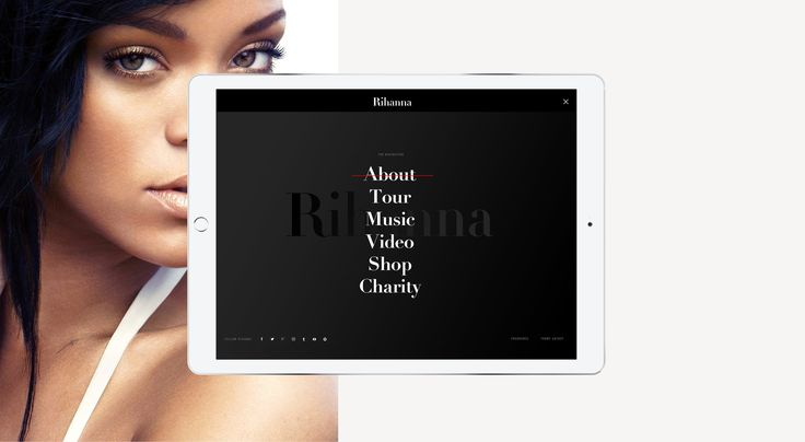 Rihanna - Official website on Behance