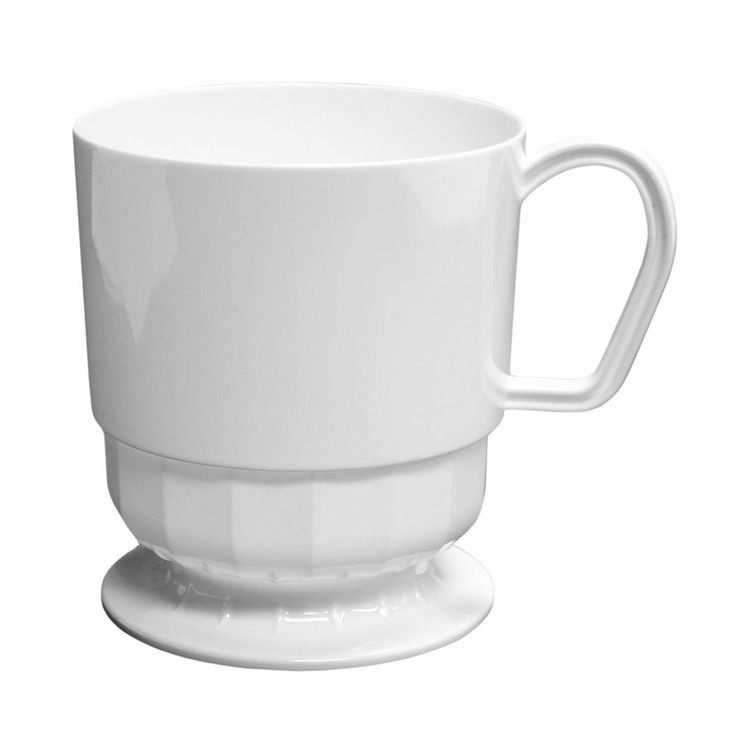 Hard Plastic Coffee Cup 8 Ounce Party Essentials Elegance Capacity White 120pcs $59.26 #PartyEssentialsCoffeeCup