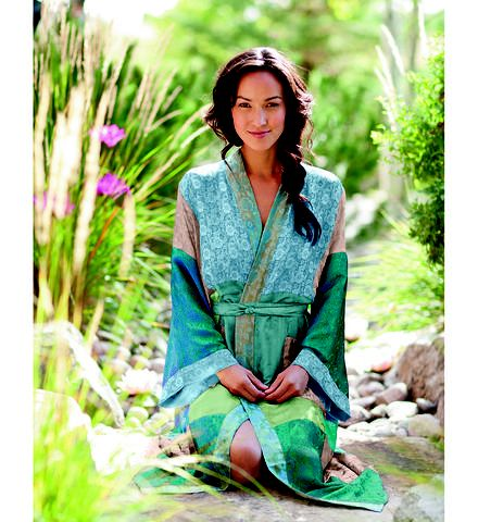 Womens Robes | Multi-Colored Patchwork Handmade Robe - Gaiam
