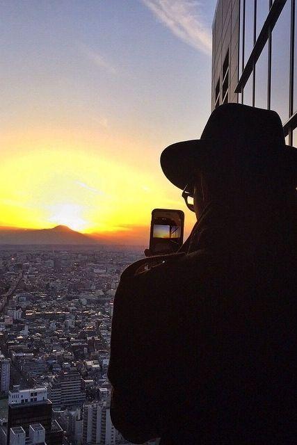 Catching a beautiful sunset just in time at Park Hyatt Tokyo. #MYLUXLIST | Park Hyatt