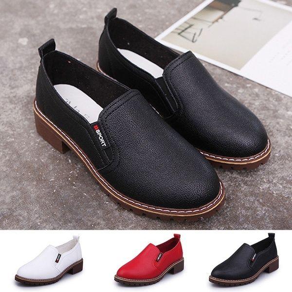 Size 4 5 10 5 3 Colors Women Fashion Flat Shoes Oxford Genuine Leather Shoes Fashion Shoes Flats Oxford Shoes Genuine Leather Shoes